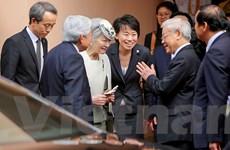 Nhật hoàng Akihito dự Tiệc trà cùng Tổng Bí thư Nguyễn Phú Trọng