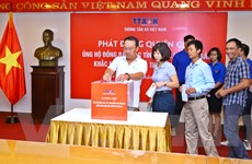 Thông tấn xã Việt Nam chung tay ủng hộ đồng bào Tây Bắc bị lũ quét