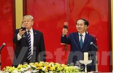 Chủ tịch nước chủ trì Quốc yến chiêu đãi Tổng thống Donald Trump