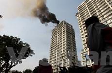 Hà Nội: Cháy lớn tại Chung cư cao cấp Golden Westlake