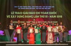 Thông tấn xã Việt Nam giành 4 giải báo chí toàn quốc về xây dựng Đảng