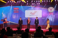 Bưu điện nhận Giải thưởng Thương hiệu mạnh Việt Nam