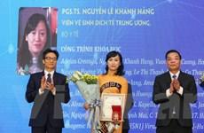 Lần đầu tiên một nhà khoa học nữ nhận Giải thưởng Tạ Quang Bửu