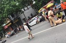 Hà Nội: Trung úy Cảnh sát giao thông bị xe tông gục trên quốc lộ 32