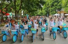 Hàng trăm người dân đạp xe kêu gọi xây dựng đô thị không rác thải