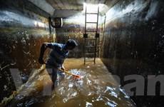 Viwaco thau rửa bể chung cư phát hiện nước đen kịt nồng nặc mùi dầu