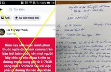 Đề nghị Facebook, Google ngăn chặn thông tin thất thiệt về dịch nCoV