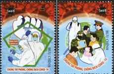 Phát hành bộ tem ''Chung tay Phòng, chống Dịch COVID-19''