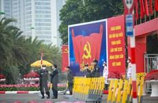 An ninh thắt chặt xung quanh khu vực tổ chức Đại hội Đảng lần thứ XIII