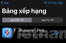 Bluezone trở lại top 1 Appstore sau khi có thêm ca dương tính COVID-19