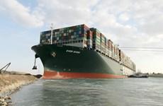 Tàu Ever Given bị giữ vì chưa bồi thường cho vụ mắc cạn ở kênh Suez