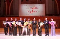Nghệ sỹ Canada-Việt Nam mừng 60 năm Học viện Âm nhạc Quốc gia Việt Nam