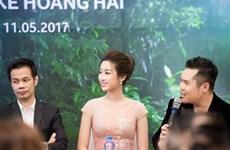 Hoa hậu Đỗ Mỹ Linh lộng lẫy như nàng thơ trong thiết kế của Hoàng Hải