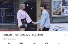 """MV """"Hôn anh"""" của ca sỹ Min cán mốc 1 triệu view chỉ trong 24 giờ"""