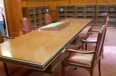 """Chiếc bàn """"lịch sử"""" trong cuộc gặp thượng đỉnh Mỹ-Triều"""