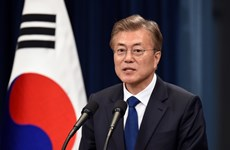 Hàn Quốc: Tỷ lệ ủng hộ Tổng thống Moon Jae-in tăng cao kỷ lục