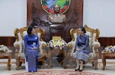 Phó Chủ tịch Đặng Thị Ngọc Thịnh tiếp Hội hữu nghị Lào - Việt Nam