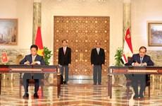 Tuyên bố chung Việt Nam-Ai Cập: Củng cố lòng tin chiến lược