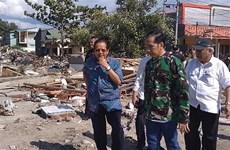 Tổng thống Indonesia J.Widodo tiếp tục thị sát các khu vực động đất