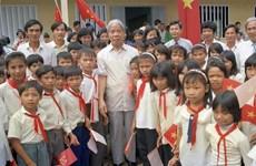 Nguyên Tổng Bí thư Đỗ Mười-người luôn quan tâm đến hoạt động nhân đạo