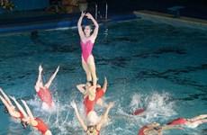 [Video] Màn trình diễn dưới nước của các vận động viên Triều Tiên