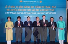 Thủ tướng dự kỷ niệm 15 năm đường bay thẳng Việt Nam - Nga