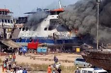 Cháy tại xưởng đóng tàu ở Indonesia gây nhiều thương vong