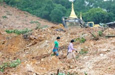 Số nạn nhân vụ lở đất tại Myanmar tăng lên gần 70 người