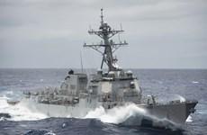 Tàu khu trục Hải quân Mỹ tuần tra hàng hải tại Biển Đông