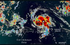 Mỹ: Bão Dorian có thể mạnh lên cấp 4 khi đổ bộ vào bang Florida