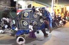 [Video] Kinh hoàng khoảnh khắc voi điên lao vào đám đông ở Sri Lanka