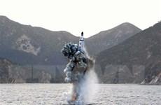 Triều Tiên xác nhận phóng thử tên lửa đạn đạo từ tàu ngầm mới