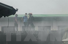Bình Dương: Tạm thời khống chế vụ cháy lớn tại công ty giày dép