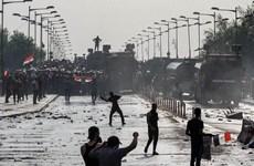 [Video] Biểu tình phản đối chính phủ ở thủ đô Baghdad, Iraq