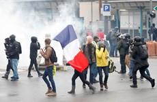 Pháp bắt giữ hơn 250 người thuộc phong trào biểu tình 'Áo vàng'