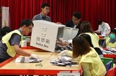 Bầu cử Hội đồng quận tại Hong Kong: Hơn 70% cử tri đi bỏ phiếu