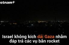 [Video] Israel không kích dải Gaza nhằm đáp trả các vụ bắn rocket