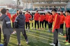 [Photo] Cận cảnh U23 Việt Nam có buổi tập nhẹ tại Hàn Quốc