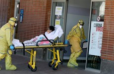 Tây Ban Nha ghi nhận hơn 800 ca tử vong vì COVID-19 trong một ngày