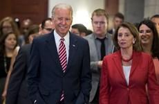 Chủ tịch Hạ viện Mỹ tuyên bố ủng hộ ứng cựu Phó Tổng thống J.Biden