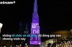 Tòa tháp Burj Khalifa tri ân nỗ lực thiện nguyện trong dịch COVID-19