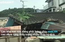 [Video] Lũ lụt gây hậu quả nghiêm trọng trên đất Nhật Bản
