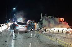 Va chạm giữa xe quân sự Mỹ và xe chở người dân tại Hàn Quốc