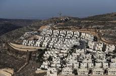 Israel phê chuẩn xây nhà định cư ở Bờ Tây sau 8 tháng tạm ngừng