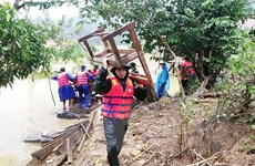 Quảng Bình: Trường học vừa phòng bão số 9, vừa khắc phục mưa lũ