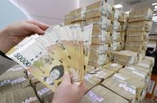 Đồng won của Hàn Quốc tăng giá lên mức cao nhất trong 30 tháng qua