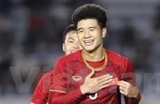 Hà Đức Chinh hài lòng với hat-trick giúp U22 Việt Nam vào chung kết
