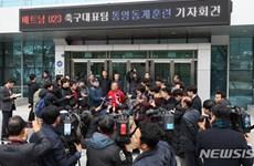 Truyền thông Hàn Quốc vây kín HLV Park Hang-seo để xin phỏng vấn