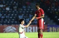 Cầu thủ U23 Triều Tiên đổ gục sau thất bại tiếc nuối trước U23 Jordan