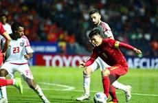Quang Hải nhiều lần qua người dễ dàng, khiến U23 UAE liên tục phạm lỗi